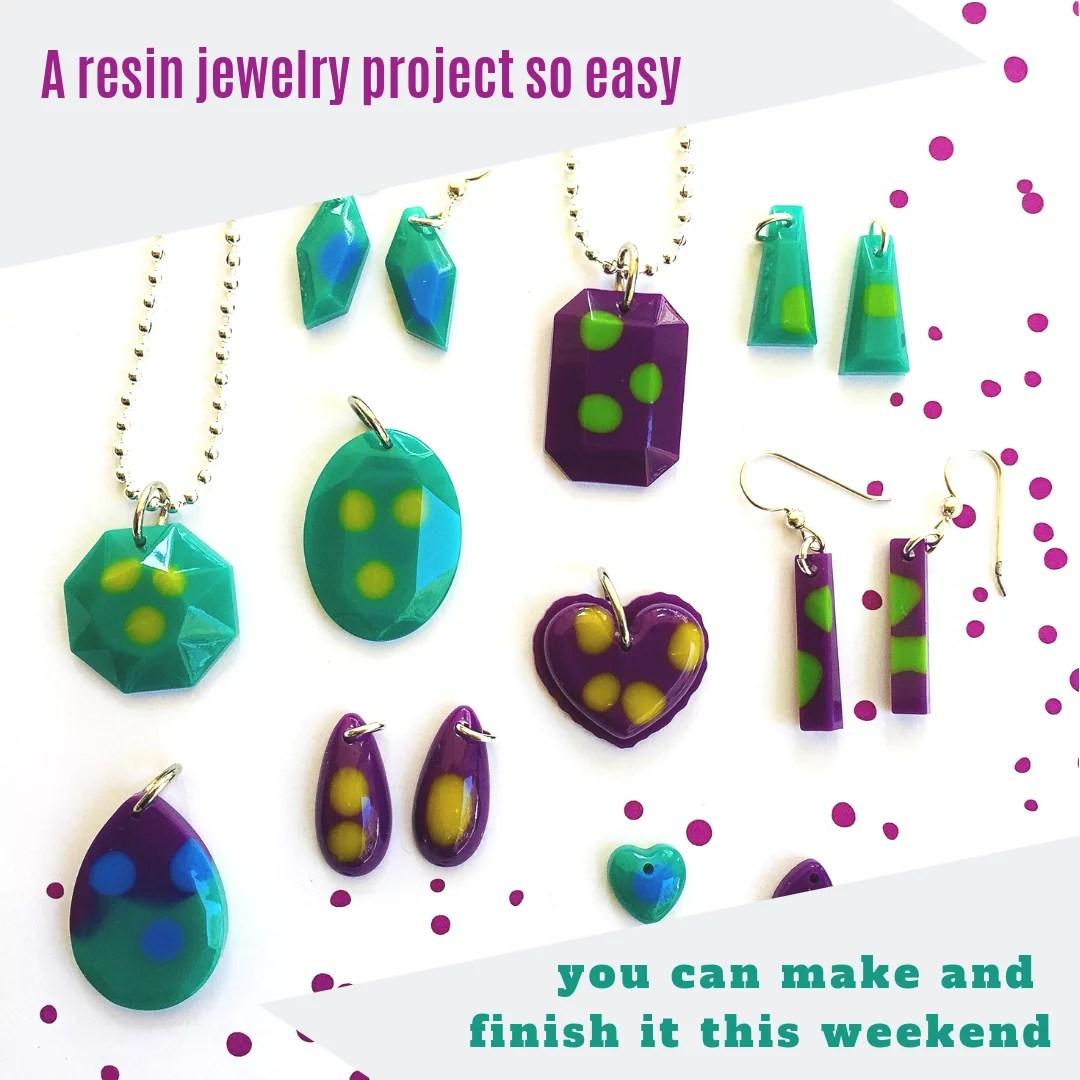 resin jewelry DIY