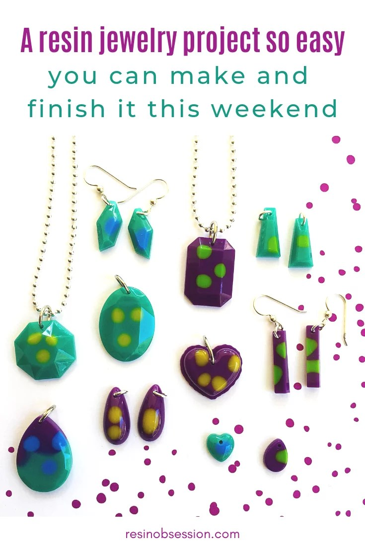 easy DIY resin jewelry