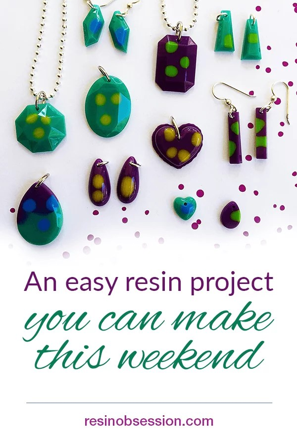 easy resin jewelry project