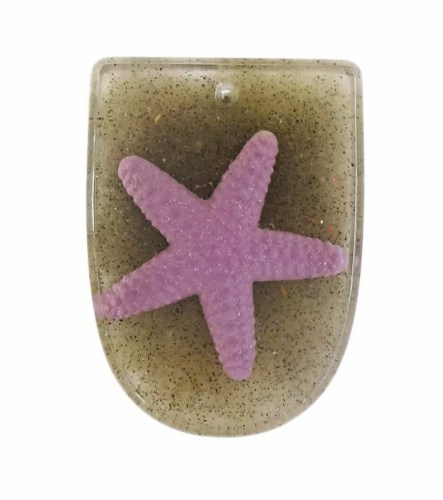 beach starfish resin pendant