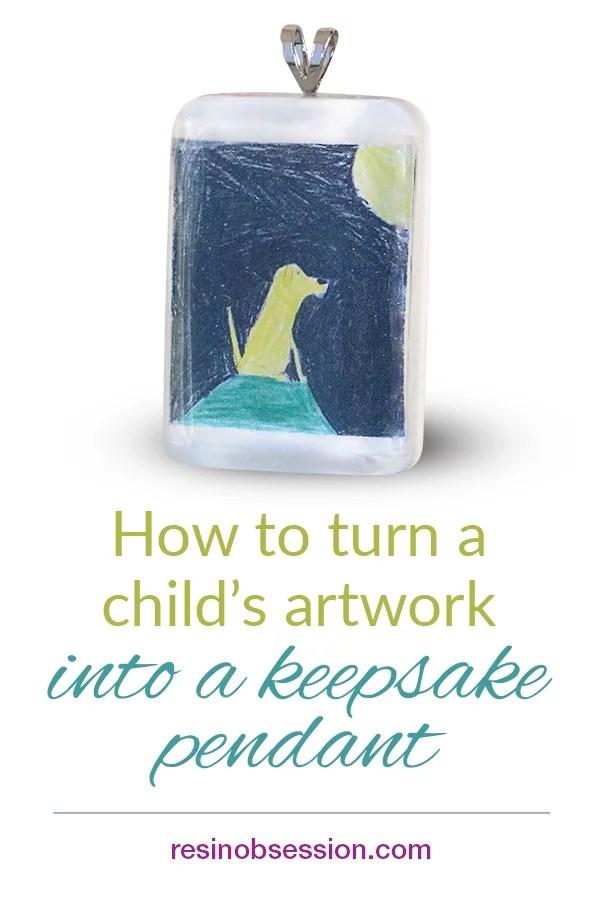 Keepsake artwork pendant tutorial