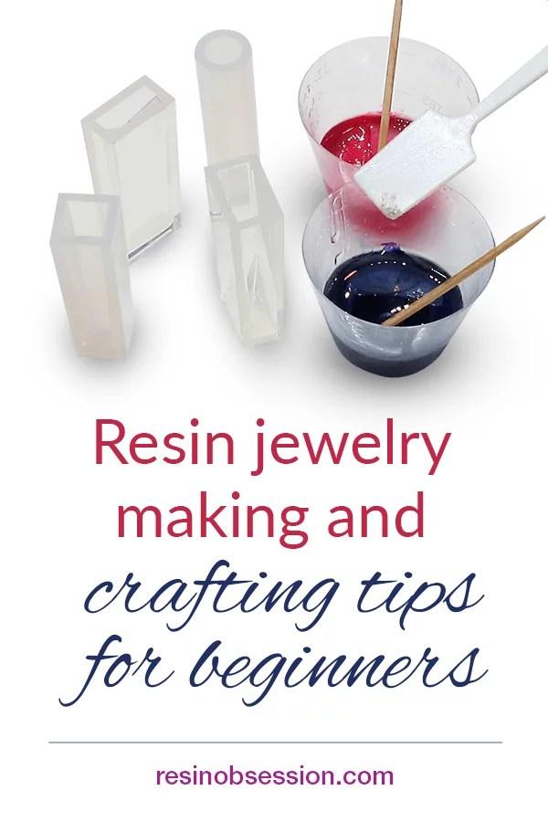 beginner resin jewelry making tips