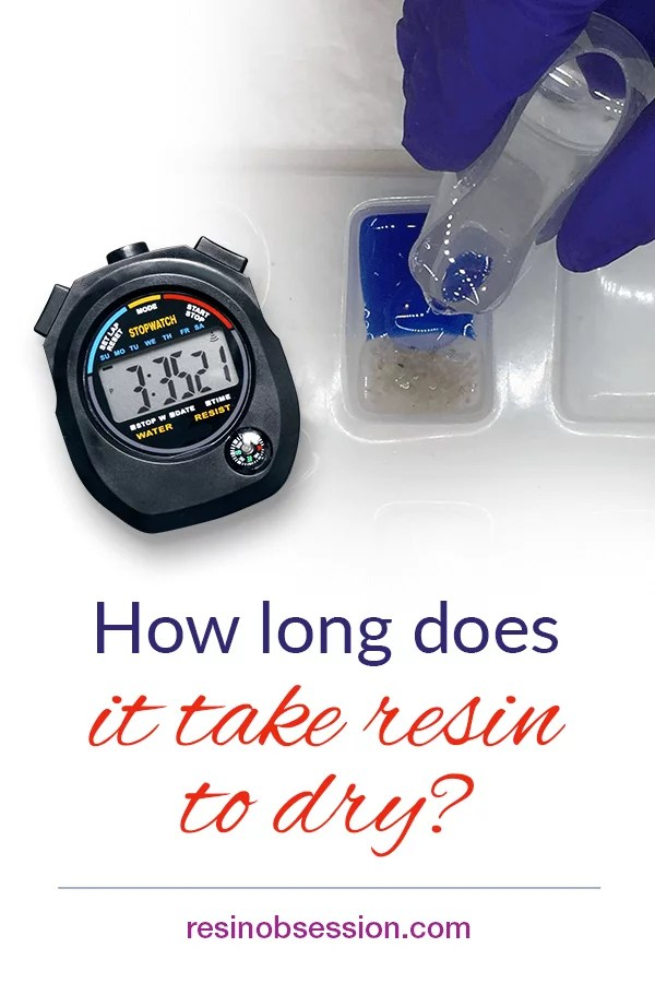 Resin cure times explained