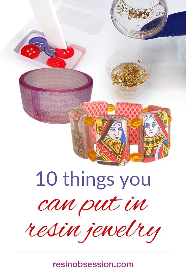 Things to include in resin jewelry
