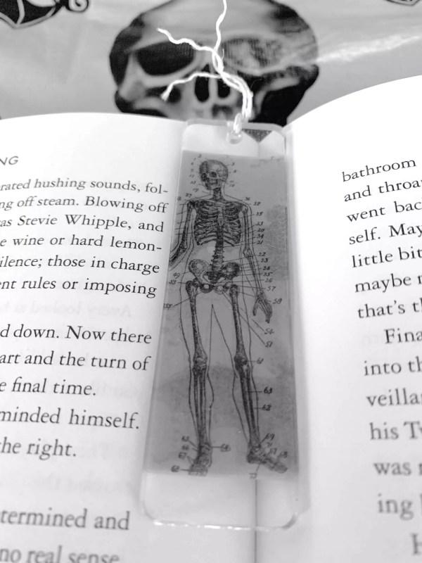 skeleton resin bookmark
