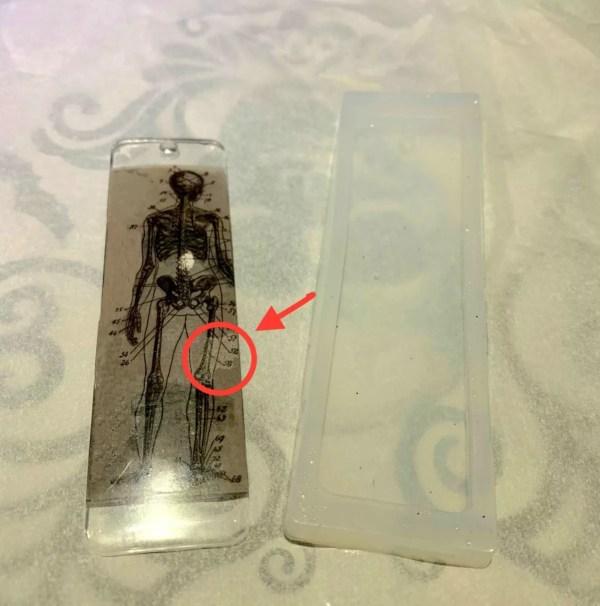 spot in resin bookmark