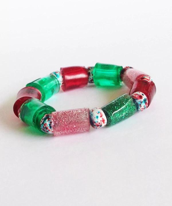 finished resin bead bracelet