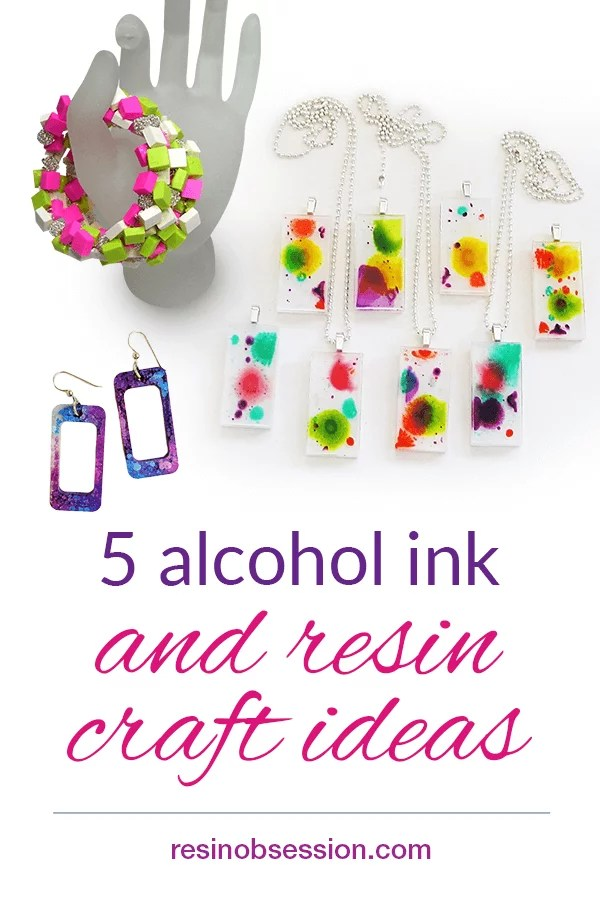 resin and alcohol ink projects