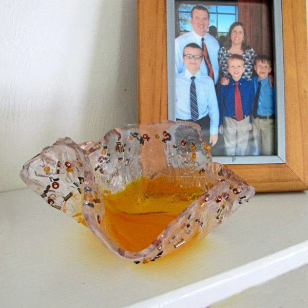 finished resin bowl