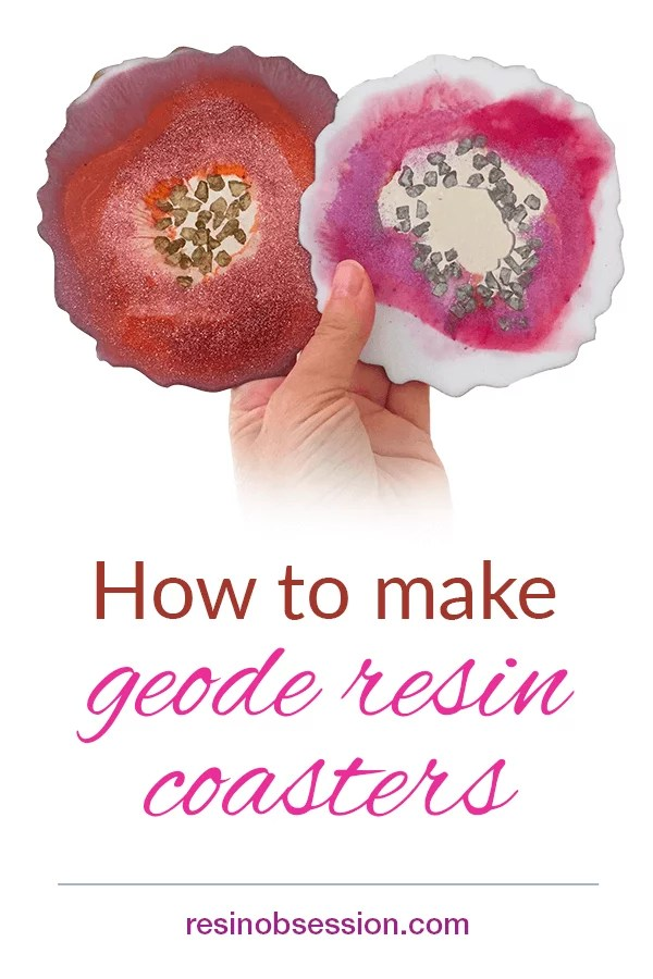 How to make geode resin coasters