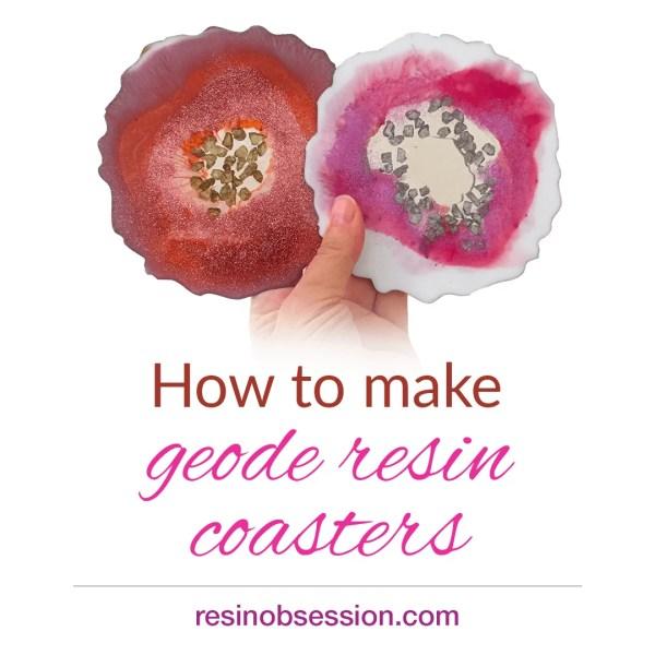 geode resin art coasters