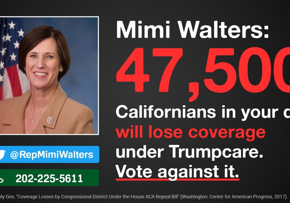ACTION: SAVE the ACA! Call Congresswoman WALTERS