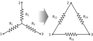 Resistor Star Delta Connection Diagram