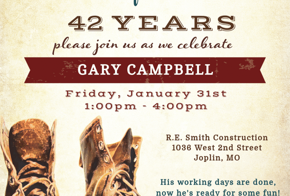 Retirement Party at RE Smith Construction