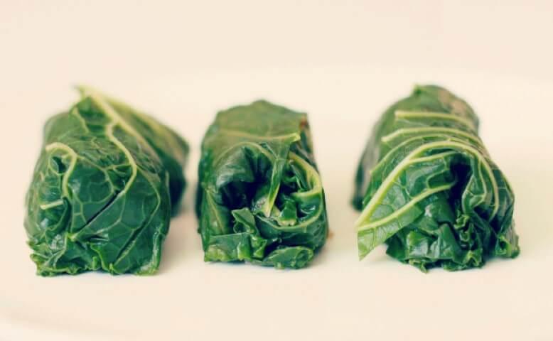 Ricetta delle foglie di cavolo Kale farcite