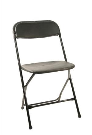 Black Folding Chair Rental