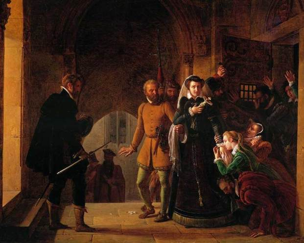 Pierre-Henri Révoil,   Mary, Queen of Scots, Separated from Her Faithfuls,  1822.
