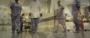 Illustration d'un couloir d'hôpital