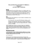 Maryland Standard for Mediators – MACRO