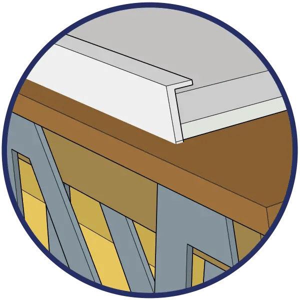 Soundproofing edge strips icon