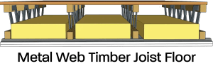 metal web timber joist floor cross section image