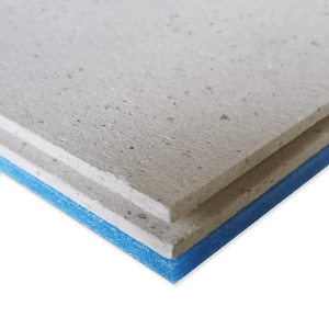 ResoDeck MR dry screed acoustic floor board featuring a moisture resistant resilient layer