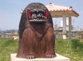 人工ビーチ(獅子舞)
