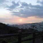 名護城公園から見る夕日⑥