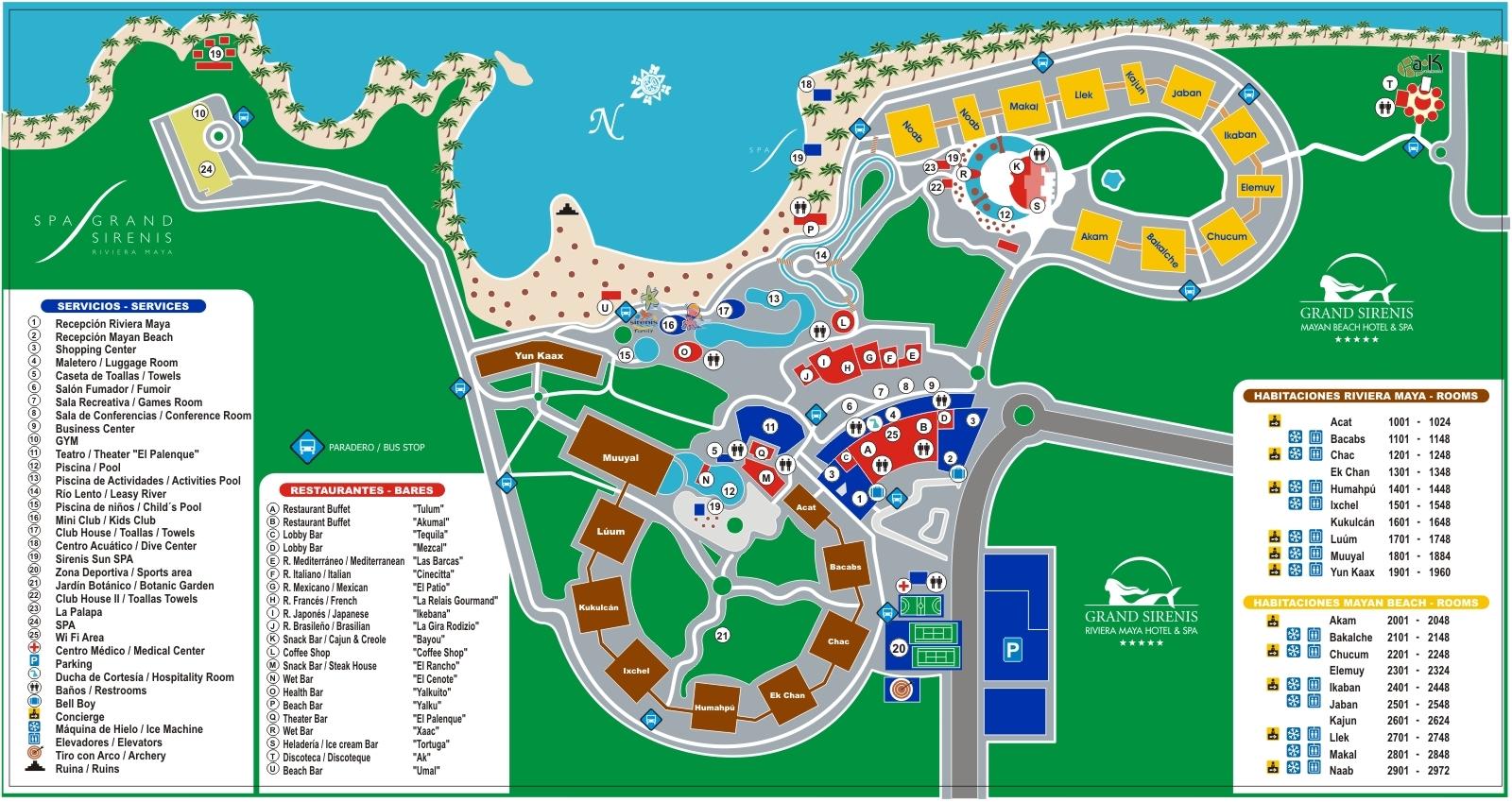 All Grand Suite Resort Sunset Maya Riviera Princess Map