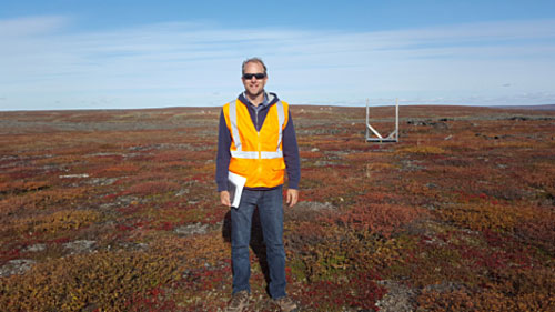 Visit to vast Nunavut Exploration camp highlights possibilities - Author at the site of proposed Goose plant