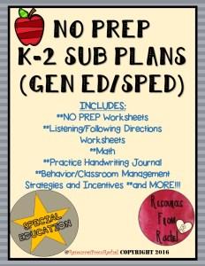 K-2 Subs Plans Version1