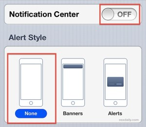 alert styles of phone notifications