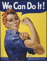 """Rosie the Riveter"" ""We Can Do It"" WWII Poster"
