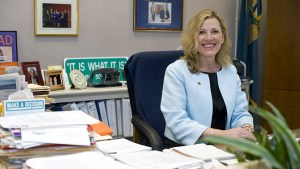 Secretary Rita Landgraf in her office in New Castle