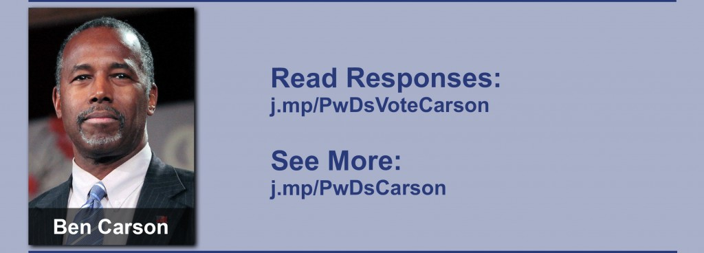 Click on the image to view all of Ben Carson's answers to the questionnaire.