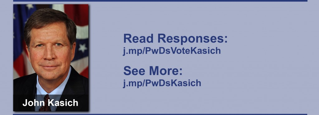Click on the image to view all of John Kasich's answers to the questionnaire.