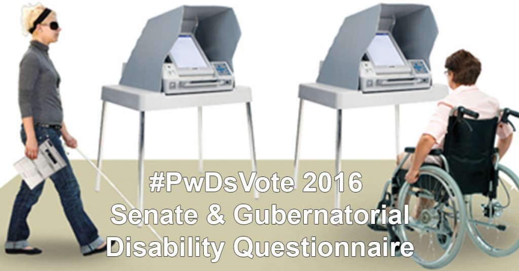 Graphic: #PwDsVote Senate and Gubernatorial Disability Questionnaire