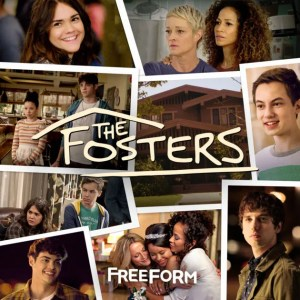 Images of the characters from The Fosters with the text: The Fosters, Freeform
