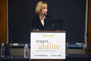 Judy Woodruff speaks at RespectAbility's 2018 Summit
