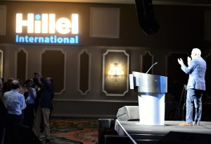 Hillel International President and CEO Eric D. Fingerhut addresses Hillel International Global Assembly
