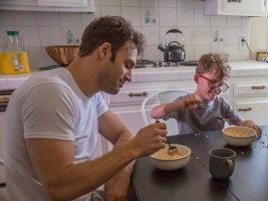 Ryan Guzman and Gavin McHugh eat cereal on the show 9-1-1 on Fox