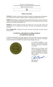Mississippi proclamation NDEAM