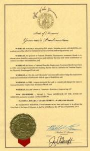 Missouri proclamation NDEAM