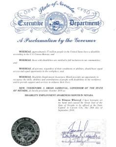 Image of Nevada NDEAM Proclamation