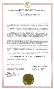 Image of New Mexico NDEAM 2018 proclamation