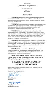 Ohio NDEAM proclamation