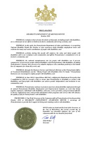 Pennsylvania's NDEAM proclamation