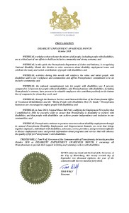 Pennsylvania's NDEAM proclamation