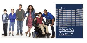 Image of the cast of speechless and GLAAD's Where We Are on TV report