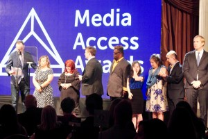 Jonathan Murray and the Born This Way cast at the Media Access Awards 2018